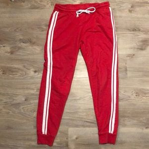 Red with White Stripes Sweats